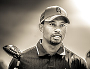 Tiger Woods Photos - Tiger Woods by Brent Roberts