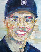 Golfer Paintings - TIGER WOODS - oil portrait by Fabrizio Cassetta