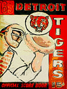 American League Painting Posters - Tigers Score Book Poster by John Farr