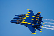 Blue Angels Framed Prints - Tight With My Brothers Framed Print by Adam Romanowicz