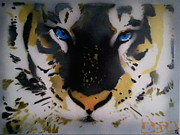 The Tiger Painting Framed Prints - Tigrrr 2 Framed Print by Barry Boom
