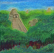 Mayan Ruins Pastels - Tikal 2 by jrr by First Star Art