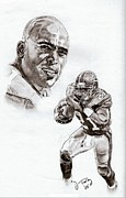 Pro Football Prints - Tiki Barber Print by Jonathan Tooley