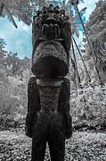 Tiki Man In Infrared Print by Jason Chu
