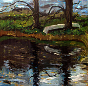 Sport Fishing Paintings - Til Canoe Time by Charlie Spear