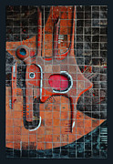Ceramic Tile Prints - Tile Cubism - Spain Print by Mary Machare