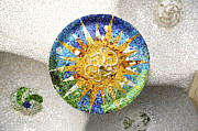 Parc Guell Prints - Tiled mosaic Print by Fabrizio Troiani