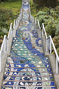 Tiled Prints - Tiled Steps Print by David Bearden