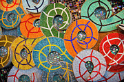 Mosaic Photos - Tiled Swirls by Adam Romanowicz