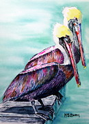 Key West Paintings - Till Death Do Us Part by Maria Barry
