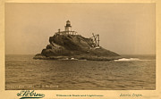 Lighthouse Drawings - Tillamook Rock Lighthouse by S Crow