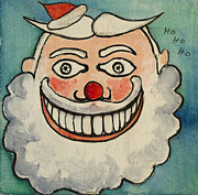 Asbury Park Funhouse Painting Originals - Tillie as the Jolly Santa by Patricia Arroyo