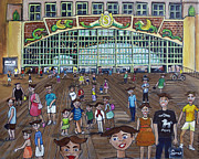 Asbury Park Painting Metal Prints - Tillie is Everyone Metal Print by Patricia Arroyo