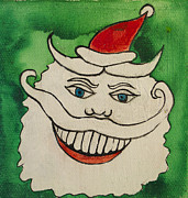 Amusements Prints - Tillie the Mischievous Santa Print by Patricia Arroyo