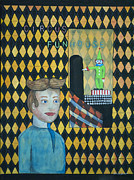 Asbury Park Funhouse Painting Originals - Tillies One Second Dream by Patricia Arroyo
