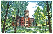 Clemson Art - TILLMAN HALL TWO Clemson by Patrick Grills