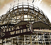 Roller Coaster Posters - Tilt-a-whirl Poster by Larry Butterworth