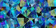 Tilt In Blue - Abstract - Art Print by Ann Powell
