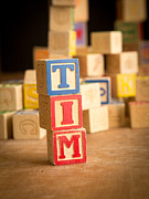 Tim Framed Prints - TIM - Alphabet Blocks Framed Print by Edward Fielding