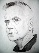 Award Drawings Framed Prints - Tim Robbins Framed Print by Robert Lance