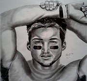 Tebow Drawings Posters - Tim Tebow Poster by Christopher Kyle