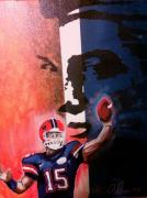Florida State Mixed Media - Tim Tebow by Ottoniel Lima