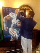Tim Tebow Paintings - Tim Tebow Signing The Original Painting Heisman 2007 For Sale  by Sports Art World Wide John Prince