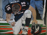 Tim Tebow Paintings - Tim Tebow by Trevor Hill