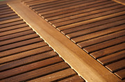 Wood Slat Background Prints - Timber Slats Print by Tim Hester