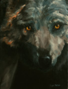 Lisa Phillips Owens Painting Prints - Timber Wolf Print by Lisa Phillips Owens