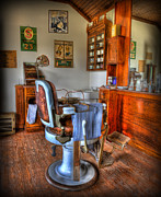 Hair Dresser Framed Prints - Time for a Cut And Shave - Barber  Framed Print by Lee Dos Santos