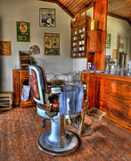 Hair Dresser Framed Prints - Time for a Cut And Shave II - Barber Framed Print by Lee Dos Santos