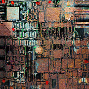 Motherboard Metal Prints - Time For A Motherboard Upgrade 20130716 square Metal Print by Wingsdomain Art and Photography