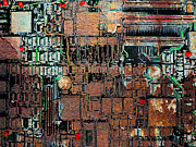 Motherboard Digital Art Prints - Time For A Motherboard Upgrade 20130716 Print by Wingsdomain Art and Photography