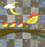 Stars Tapestries - Textiles - Time For Bed by Julie Bull