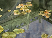 Lotus Pond Paintings - Time For Reflection by Alfred Ng