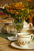 Flower Photo Prints - Time for Tea Print by Andrew Soundarajan
