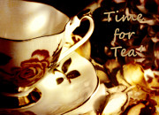 China Rose Prints - Time for Tea Print by Karen Lewis