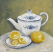 Teapot Painting Posters - Time for Tea Poster by Torrie Smiley