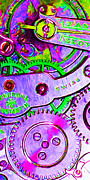 Subculture  Prints - Time In Abstract 20130605p72 Long Print by Wingsdomain Art and Photography