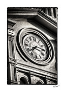Bryant Photo Framed Prints - Time in Black and White Framed Print by Brenda Bryant