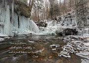 Wintry Digital Art Posters - Time is a Stream Poster by Lori Deiter