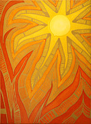 Sun Rays Painting Metal Prints - Time Metal Print by Jaime  Nepomuceno