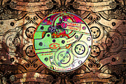 Watches Digital Art Prints - Time Machine 20130606 Print by Wingsdomain Art and Photography