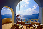 Luxury Travel Framed Prints - Time of Siesta Framed Print by Aiolos Greek Collections