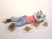 Ranching Drawings - Time Out by Kelly Killough