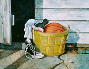 Still-life With A Basket Posters - Time Out Poster by Sarah Luginbill