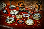 Clocksmith Prints - Time - Pocket Watches  Print by Paul Ward