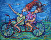 Bicycling Paintings - Time Ride by Pablo Montes