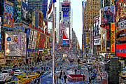 East Coast Digital Art Posters - Time Square New York 20130503v5 Poster by Wingsdomain Art and Photography